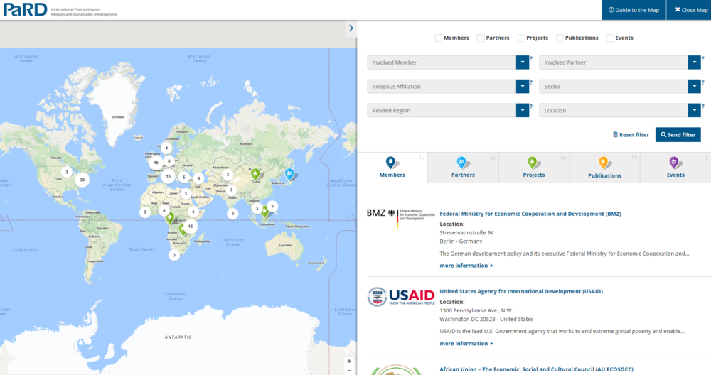 Pard pard launches world map as new knowledge hub on religion and this new world map is a knowledge hub which serves its users as a tool to learn about pard members and partners its a smart gateway to their projects gumiabroncs Gallery